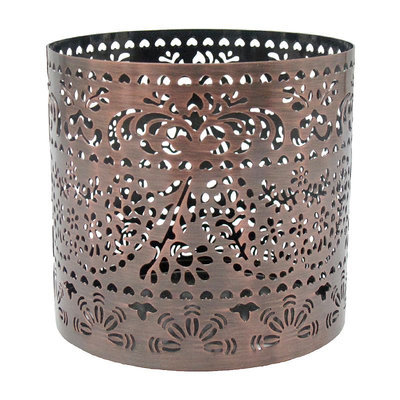 SONOMA Goods for Life™ Large Paisley Copper Finish Sleeve Candleholder, Red/Coppr (Rust/Coppr)