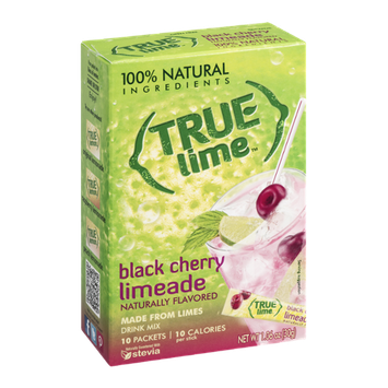 True Lime Drink Mix Packets Black Cherry Limeade - 10 CT