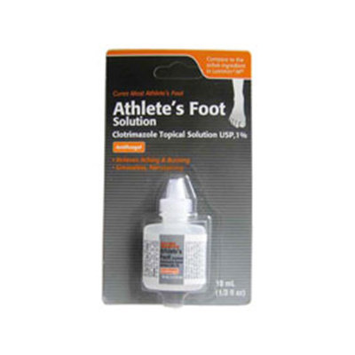 Clotrimazole AF Athletes' Foot Antifungal Topical Solution, Generic, 10 mL