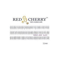 Red Cherry Single Long Individual Lashes, Black (Pack of 6)