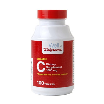 Walgreens Vitamin C 1000mg Tablets, 100 ea
