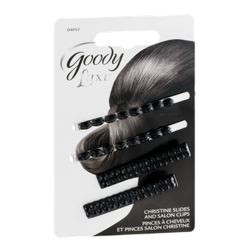 Goody Luxe Christine Slides and Salon Clips - 4 CT
