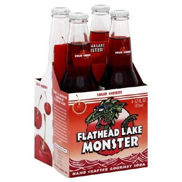 Flathead Lake Soda - Sour Cherry, 12 Ounce- 4 per pack -- 6 packs per case.