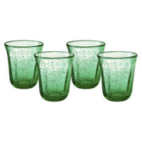 Artland Savannah Double Old Fashioned Glass Set of 4 - Green (10 oz)