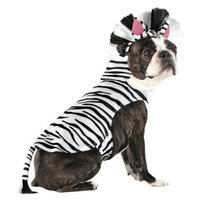 Boots & Barkley Boots and Barkley Zebra Partial/Hoodie Pet Costume - Small