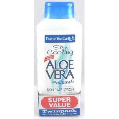 Fruit of the Earth (Buy One Get One Free) Lotion Aloe Vera 11 oz. (Case of 2) (3-Pack) with Free Nail File