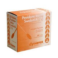 Dynarex Povidone Iodine Swabsticks 1's, 50/bx