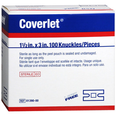 Coverlet Adhesive Dressing Strips, Knuckle - 100Ea/Box