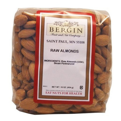 Bergin Fruit And Nut Bergin Nut Company Almonds, Raw Almonds, 16 Ounce Bag 2 Count