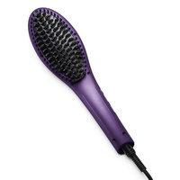 Eva NYC Healthy Heat Straightening Hair Brush, Purple