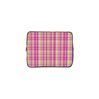 Designer Sleeves 14GS2P-PGP 14 inch Designer Sleeve Case - Pink & Green Plaid