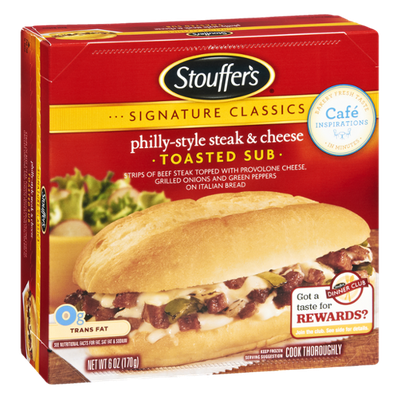 Stouffer's Signature Classics Philly-Style Steak & Cheese Toasted Sub