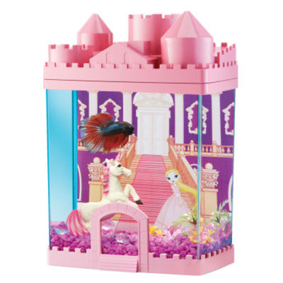 Top FinA Princess Castle Fish Aquarium
