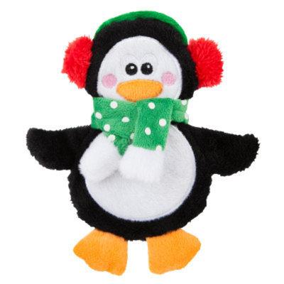 Top PawA Pet HolidayTM Penguin Flattie Dog Toy