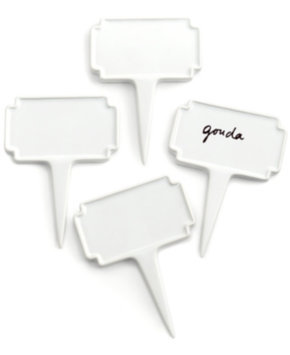 Martha Stewart Collection Set of 4 Cheese Markers