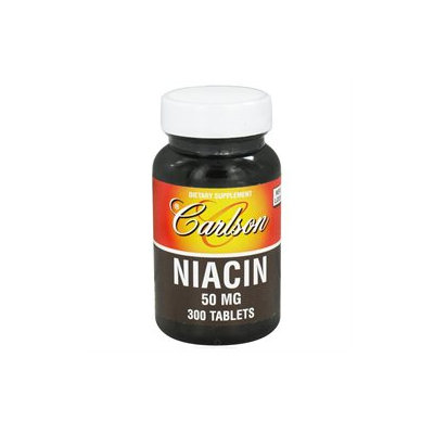 Carlson Labs - Niacin 50 mg. - 300 Tablets