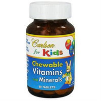 Carlson Labs Carlson for Kids Chewable Vitamins and Minerals, 60 Tablets