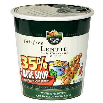 Health Valley Soup Cup, Lentil with Couscous, 2.65-Ounce Cups (Pack of 12)