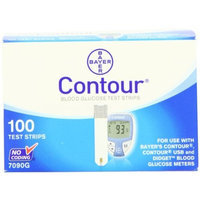 Ascensia Bayer Contour Blood Glucose, 100 Test Strips
