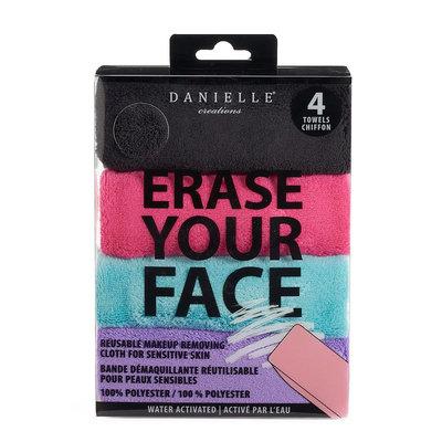 Danielle Creations Erase Your Face 4-pk. Reusable Makeup Removing Cloth, Multicolor