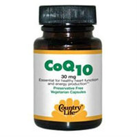 Country Life Vitamins Coenzyme Q10 30 MG 30 Caps by Country Life