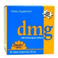 Country Life - DMG Pure NN-Dimethylglycine Sublingual 125 mg. - 30 Vegetarian Tablets