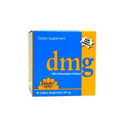 Country Life - DMG Pure NN-Dimethylglycine Sublingual 125 mg. - 30 Vegetarian Tablets