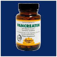 Country Life Pancreatin 1400 MG - 50 Tablets - Enzymes