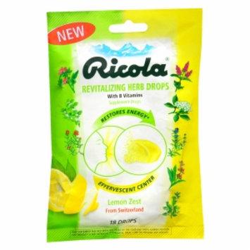 Ricola Revitalizing Cough Drop, Lemon Zest, 18 ea