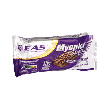 EAS Myoplex Lite Chocolate Chocolate Chip Crisp Nutrition Bar