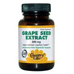 Country Life Grape Seed Extract 200 MG - 30 Veggie Caps - Grape Seed Extract