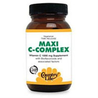Country Life Vitamins Country Life Vegetarian Maxi C-Complex - 1000 mg - 90 Tablets