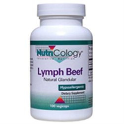 NutriCology Lymph Beef Natural Glandular - 100 Vegicaps