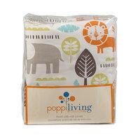 Poppi Living Safari Animals Front Crib Rail Cover, Multicolor