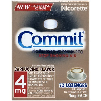 Commit Stop Smoking Aid 4 mg Lozenges, Cappuccino Flavor - 72 Ea