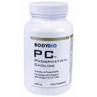 BodyBio , PC Phosphatidylcholine 1300mg , Phospholipid Complex , 300 Softgels