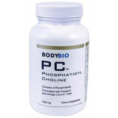 BodyBio , PC Phosphatidylcholine 1300mg , Phospholipid Complex , 300 Softgels