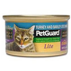 PetGuard Canned Cat Food Lite Turkey and Barley Dinner - 3 oz