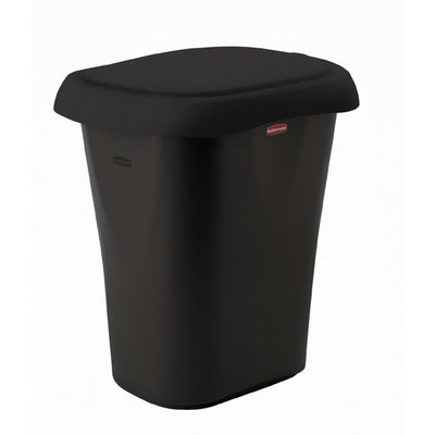 Rubbermaid 21-Quart Liner Lock Waste Basket Black