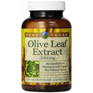 Pure Vegan Olive Leaf Extract Vegetarian Capsules, 300 Mg, 90 Count