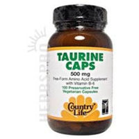 Taurine 500Mg W/B-6 50 Vcap by Country Life Vitamins (1 Each)