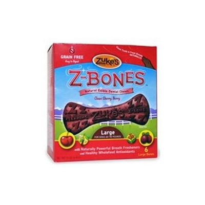Zukes Performance Pet Zukes Z-Bones Berry Large - 6 pack