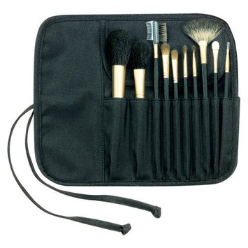 FantaSea 10 piece Cosmetic Brush Set in Roll-up