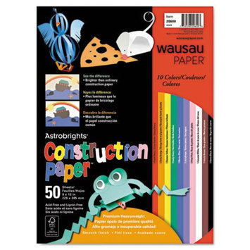 Wausau Papers Construction Paper Astrobrights, 72-lb, 9 x 12
