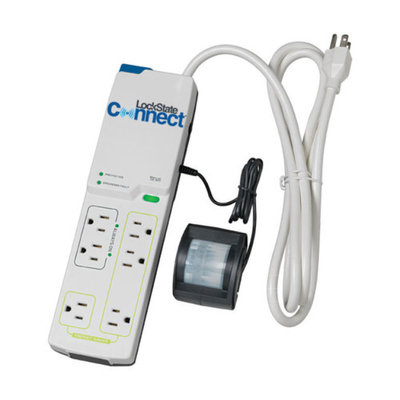 Lockstate LS-P100M LS-P100 WiFi Multi-Outlet Power Strip with Motion Detection