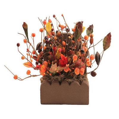 Wingtaitrading Fall Berry Candle Centerpiece
