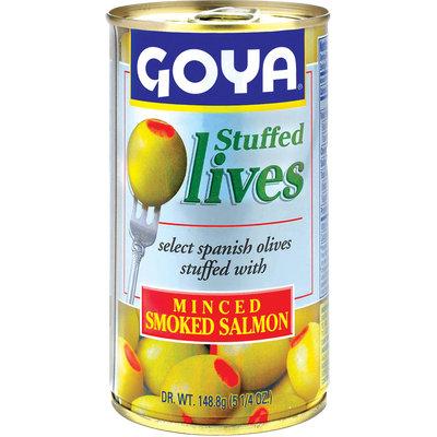 Goya Olives Stuffed with Minced Smoked Salmon