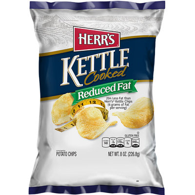 Herr's® Kettle Cooked Potato Chips Reduced Fat