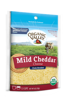 Organic Valley® Shredded Mild Cheddar