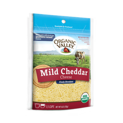 Organic Valley® Shredded Mild Cheddar